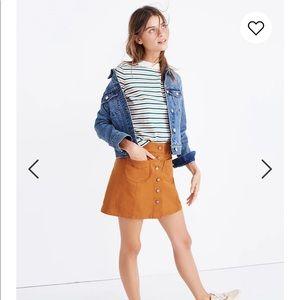 Madewell Garment Dyed Patch-Pocket Mini Skirt